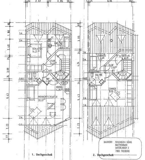 Grundrissplan 1.+2. DG